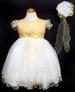 Girls Embroidered Pageant DRESS With Hat - Gold Color