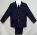 Boys 5Pc Pin-Striped DRESS  - Navy Color - Sizes: 16-18 ( # 132N)