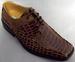 Boys Imitation Crocodile Leather SHOES - Brown  (Sizes: 11-4)