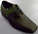 Boys Imitation Crocodile Leather SHOES - Sage Color (Sizes: 11-4)