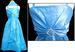 Girls Sleeveless Party DRESS With Rhinestones & Scarf  - Aqua