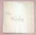 ''Our WEDDING''  White Photo Album With Lace (Imported)