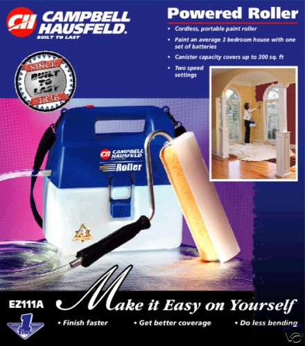 NEW CAMPBELL HAUSFELD CORDLESS PAINT ROLLER SYSTEM