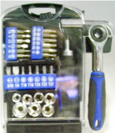 GRIP TOOLS SOCKET & SCREW BIT SET.