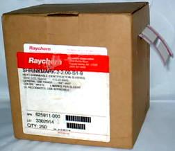 RAYCHEM USA MADE 250 WHITE HEAT SHRINK ID SLEEVES.