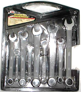 IIT 9PC. CUSHION GRIP COMBINATION WRENCH SET