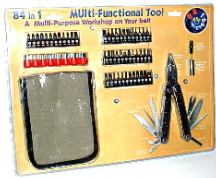 NEW 84 PC. MULTI-FUNCTION TOOL KIT WITH CUSTOM BELT SHEATH