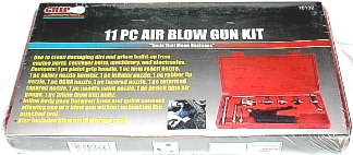GRAND RAPIDS IND. PRODUCTS 11PC. AIR BLOW GUN KIT WITH CASE. TOOL