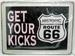 TIN SIGN, GET YOUR KICKS ON ROUTE 66