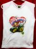 JOHN DEERE LICENSED ''GIRL POWER'' YOUTH GIRLS LARGE T-SHIRT