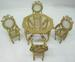 DOLL HOUSE 5-PIECE GOLDEN DINING ROOM SET
