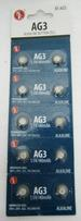 10-PC. AG3 BUTTON STYLE WATCH TYPE BATTERIES