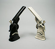 ceramic FIGURINE Pipe -Hand gun