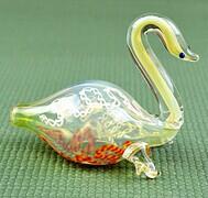 Insideout swan GLASS PIPE