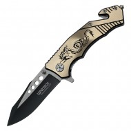 Assisted Open Handle Pocket KNIFE with dragon