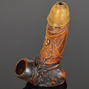 Hand Crafted FIGURINE Resin Smoking Pipe