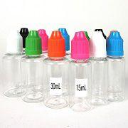 15mL/30mL Clear E-LIQUID Dropper Bottle (Dozen Pack)
