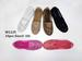 Closeout Women Breathable Flat SHOES with Lace and Diamond Brown
