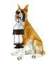15'' Boxer Dog Garden Statue with Solar Lantern for CHRISTMAS Gift
