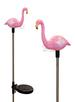 A pack of Two Pink Flamingo Solar Garden Solar Lights