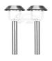 A pack of Two Stainless Steel Solar Path Lights
