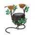Love Bird and Nest Wrought Iron Solar Table Top Light