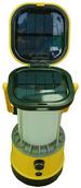 Solar Powered Camping Yellow Lantern with Phone Charger