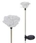 A Pack of Two Clear Roses Solar Garden Stake LED Lights
