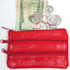 Genuine LEATHER Four Zipper Coin Purse Assorted Color Sold by Doz