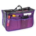Purse Organizer Main Compartment 2 Zipper Pocket 10 Open Pocket