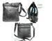 Trendy Cross Body Soft Leather Purse Tic Tac Toe Front, Belt Trim