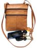 Genuine Leather Every Day Purse Shoulder or Cross Body Slim Light