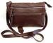 Slim Single Long Strap 5 Pocket Lady's Pure Leather Cross Body