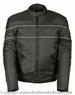 MENS SCOOTER STYLE TEXTILE JACKET REFLECTIVE STRIPES