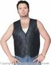 Men's Classic LEATHER VEST With Gun Pocket