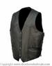 4 Snaps Side Lace LEATHER VEST
