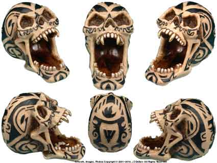 Tribal Skull: Open Mouth Ashtray / Candy-Coin Dish