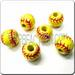 Medium Jewelry Ceramic Sport Bead - SOFTBALL