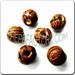 Medium JEWELRY Ceramic Sport Bead - Basketball