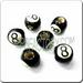 Medium JEWELRY Ceramic Sport Bead - 8 Ball