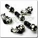 Peruvian Ceramic Special Sport Bead - Cleat w/. SOCCER ball