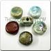 Raku glazed JEWELRY bead - Disc