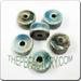 Raku glazed JEWELRY bead - Wheel shape