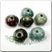 Raku glazed JEWELRY bead - Rondelle