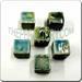 Raku glazed JEWELRY bead - Cube