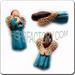 Ceramic JEWELRY multi colored shaped bead - Blue Angel