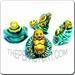 Ceramic JEWELRY multi colored shaped bead - Buddha