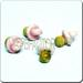 Ceramic JEWELRY multi colored shaped bead - Pink Pacifier