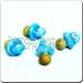 Ceramic JEWELRY multi colored shaped bead - Lt. Blue Pacifier