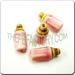 Ceramic JEWELRY multi colored shaped bead - Pink Baby Bottle